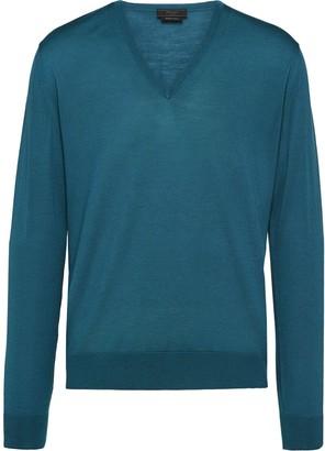 Prada V-neck knitted jumper