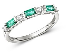 Bloomingdale's Diamond & Emerald Stacking Ring in 14K White Gold - 100% Exclusive