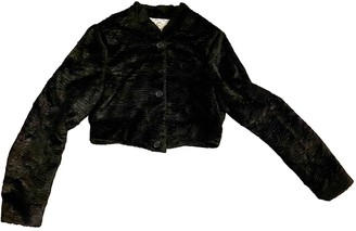 Anne Valerie Hash Black Faux fur Jackets