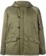 Saint Laurent bomber parka coat - men - Cotton/Nylon - 52