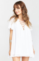 MUMU Rancho Vista Tunic Dress ~ White Chiffon