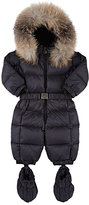 Moncler Fur-Trimmed Down-Quilted Snowsuit-NAVY