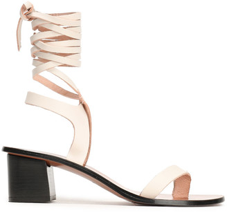ATP ATELIER Lace-up Leather Sandals