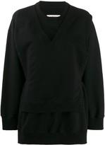 MM6 MAISON MARGIELA tie-waist layered sweatshirt