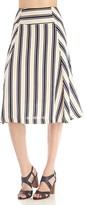 Sole Society Striped Midi Skirt