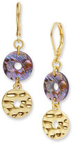 lonna & lilly Abalone Disc Double Drop Earrings