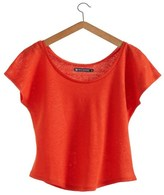 Petit Bateau Womens round neck tee in linen jersey