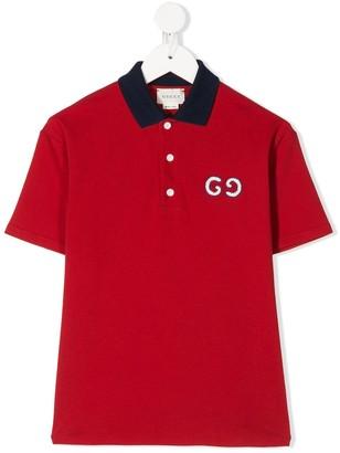 Gucci Kids GG embroidered polo shirt