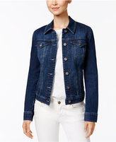 Style&Co. Style & Co Petite Embroidered-Back Denim Jacket, Only at Macy's
