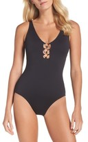 Tommy Bahama Women's Ring Accent One-Piece Swimsuit