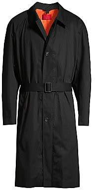 HUGO Men's Marco Oversized Cotton Trench Coat