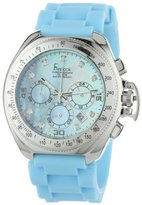 Freelook Women's HA6303-6 Aquamarina Iii Blue Band Blue Mother-Of-Pearl Dial and Swarovski Indexes Watch