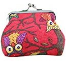 Owl Clutch Bag, Misaky Women Lovely Style Small Wallet Hasp Purse (3.52.8inch, Red)