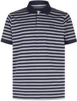 Gant Feeder Stripe Printed Polo Top, Grey, S