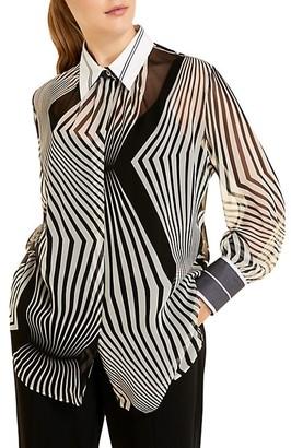 Marina Rinaldi, Plus Size Optical Silk Georgette Blouse
