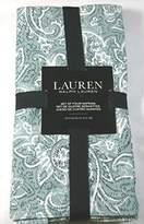 """Ralph Lauren Adare Paisley Napkins Mineral 100% Cotton 20"""" x 20"""" 4 Pk."""
