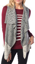 Kensie Broken Stripe Yarn Knit Vest