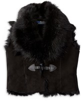 Ralph Lauren Girls' Shearling Vest - Sizes 2-6X