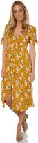 Reverse Womens Belle Button Dress Yellow