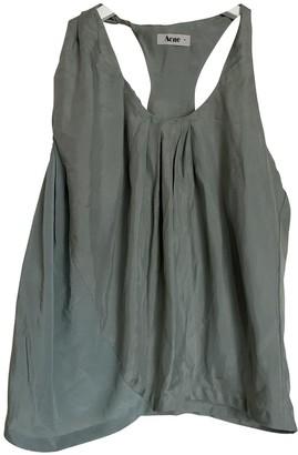 Acne Studios Green Silk Top for Women