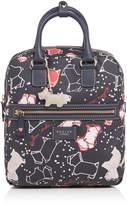 Radley Speckle dog medium ziptop backpack