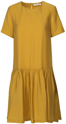 Samsoe And Samsoe Mille Ruffled Dress with Short Sleeves
