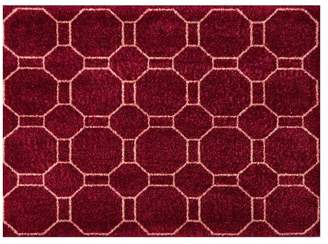 Pottery Barn Mathis Indoor/Outdoor Washable Mat - Burgundy