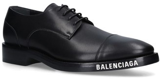 Balenciaga Leather Logo Derby Shoes