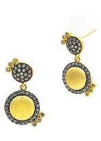 Freida Rothman Women's Baroque Blues Pave Drop Earrings