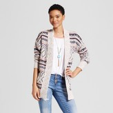 Mossimo Women's Patterned Cardigan Multicolor
