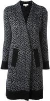 MICHAEL Michael Kors leopard intarsia cardi-coat - women - Nylon/Mohair/Merino - S