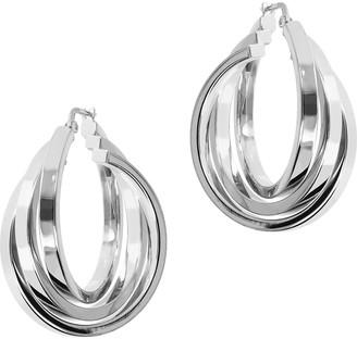 Arte D'argento Arte d' Argento Sterling or 18K Gold-Clad Triple Hoop Earrings