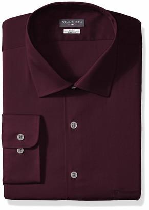 Van Heusen Men's FIT Dress Shirts Flex Collar Stretch Solid (Big and Tall)