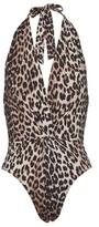 Ganni Printed swim suit