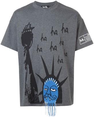 Haculla Ha Ha Liberty drop shoulder T-shirt