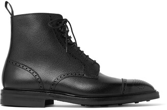 George Cleverley Toby Pebble-Grain Leather Brogue Boots