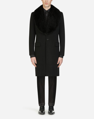 Dolce & Gabbana Wool And Cashmere Broadcloth Coat