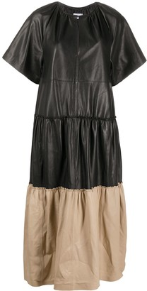 Stand Studio Tiered Leather Dress
