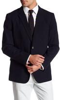 Bonobos Foundation Navy Woven Two Button Notch Lapel Cotton Standard Fit Jacket