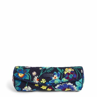 Vera Bradley Women's Iconic on a Roll Case Signature Cotton Cosmetic Bag