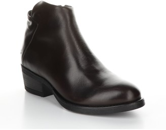 Bos. & Co. Leather Rubber Heel Ankle Boots - Elit e