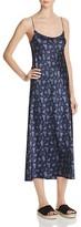 Vince Calico Floral Silk Slip Dress