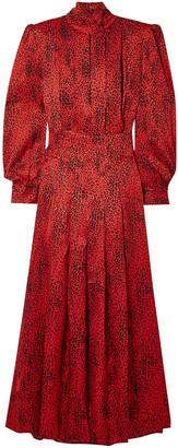Alessandra Rich Leopard-print Silk-jacquard Maxi Dress