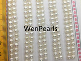 Etsy AAAA 4-4.5mm Seed White button round pearls pairs,loose pearl beads,pearl earring,pearl stud,pearl e
