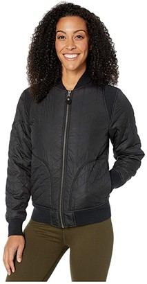 Prana Diva Varsity Jacket (Black) Women's Coat