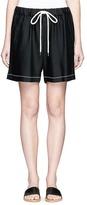 Bassike Shoelace drawcord waist crepe shorts