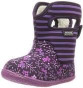 Bogs Baby Classic Flower Stripe Waterproof Winter & Rain Boot (Toddler)