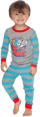 Intimo Boys' Sleep Bottoms Multi - Tom & Jerry Long-Sleeve Pajama Set - Toddler & Boys