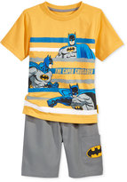 Nannette Batman 2-Pc. Shirt & Shorts Set, Toddler & Little Boys (2T-7)