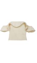 Apiece Apart Florian Ruffled Off-The-Shoulder Cotton Top